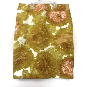 Talbots 80's inspired Abstract Floral Skirt 6